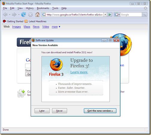 Firefox 2 į Firefox 3
