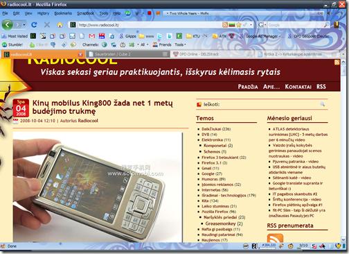 Radiocool.LT Firefox