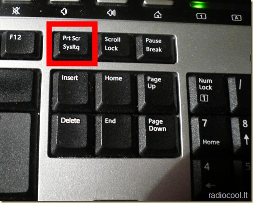 kur tas print screen klavišas Prt Scr
