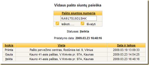 lietuvs paštas