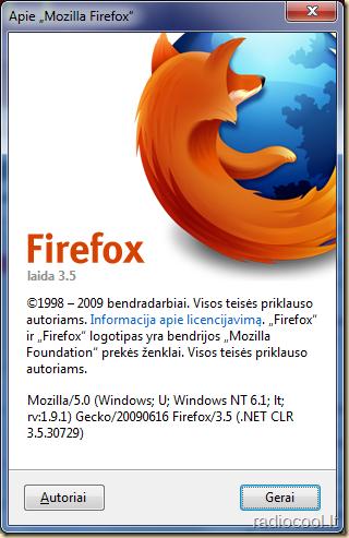 Firefox 3.5 Apie