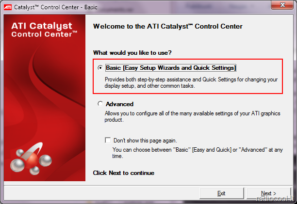 how to use amd control centre