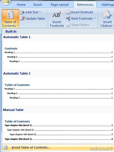 Ms Word. Kaip sukurti automatinį turinį? • Ms Word • digital pamokos • tolieja.lt
