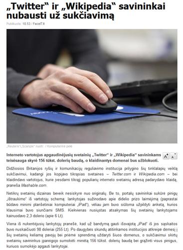 """""""Twitter"""" ir """"Wikipedia"""" savininkai nubausti už sukčiavimą - 15min.lt_1329758399648"""