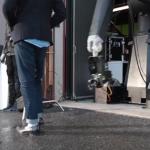 Vaizdai gauti su greita filmavimo kamera ir roboto ranka