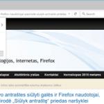Firefox 42 versijoje privataus naršymo režimas blokuos ir kai kurias reklamas