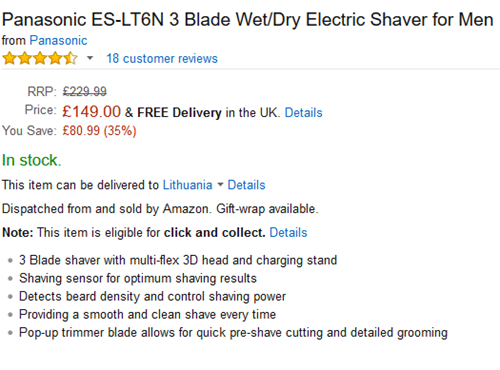 2015-12-09 22_23_31-Panasonic ES-LT6N 3 Blade Wet_Dry Electric Shaver for Men_ Amazon.co.uk_ Health