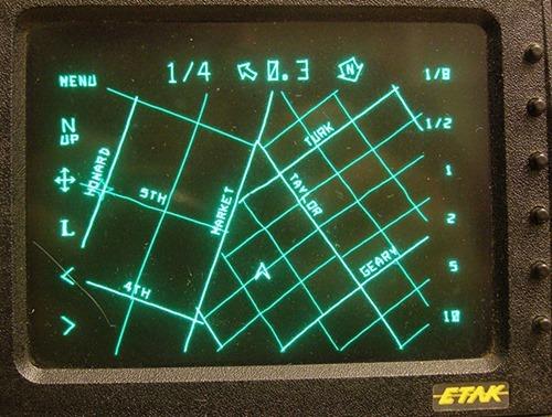 ETAK automobilio navigacijos sistema 1985 metais veikė be GPS