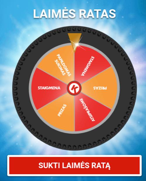 Circle K laimės ratas - kokia bilieto kaina tokia ir loterija