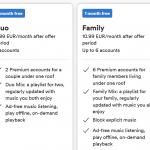 Spotify Duo planas - dvi premium paskyros už 9 EUR/mėn